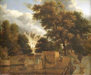 Adriaen Van De Velde - The stone bridge