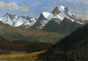Albert Bierstadt - Mountain Landscape