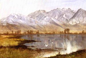 Albert Bierstadt - Wasatch Mountains, Utah