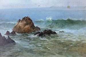 Albert Bierstadt - Seal Rocks on Pacific Coast, California