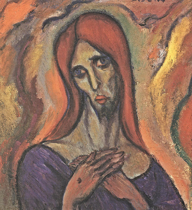 Head, 1911 by Albert Bloch (1880-1961, United States) |  | WahooArt.com