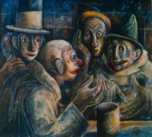 Albert Bloch - Conversation