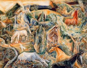 Albert Bloch - The Garden of Asses II