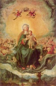 Albrecht Altdorfer - Mary in Glory