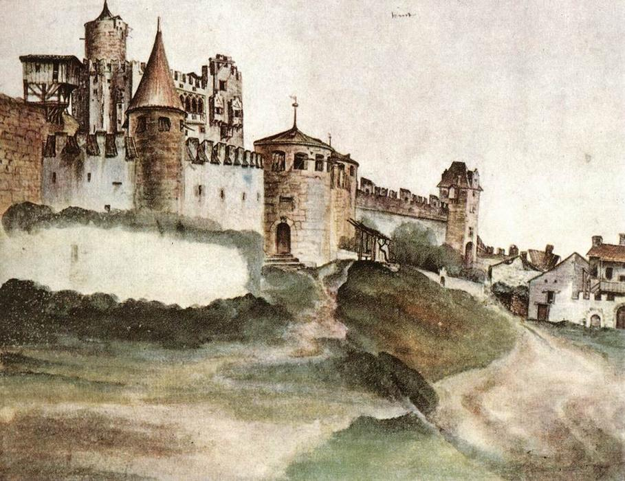 The Castle at Trento, Watercolour by Albrecht Durer (1471-1528, Italy)