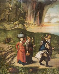 Albrecht Durer - Lot Fleeing with His Daughters from Sodom