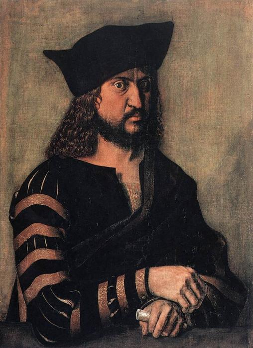 Portrait of Elector Frederick the Wise of Saxony, Tempera by Albrecht Durer (1471-1528, Italy)