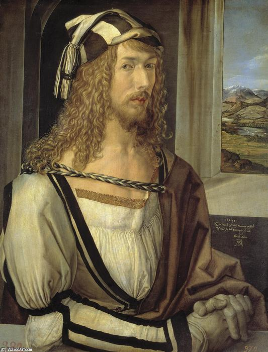 Self-Portrait, Oil On Panel by Albrecht Durer (1471-1528, Italy)