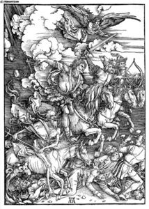 Albrecht Durer - The Four Horsemen of the Apocalypse, Death, Famine, Pestilence and War