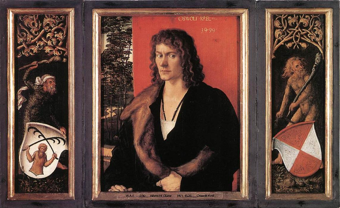 Portrait of Oswolt Krel, Oil On Panel by Albrecht Durer (1471-1528, Italy)