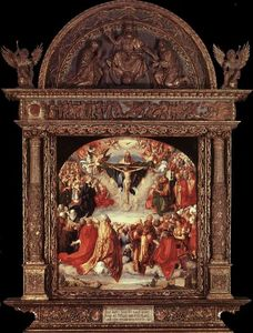 Albrecht Durer - The Adoration of the Holy Trinity (Landauer Altar)