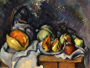 Paul Cezanne - Still Life with Fruit and a Ginger Pot