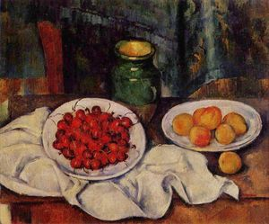 Paul Cezanne - Still Life with a Plate of Cherries