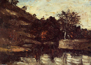 Paul Cezanne - Bend in the River