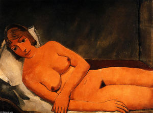 Paul Delvaux - Reclining Nude