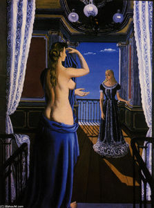 Paul Delvaux - The Balcony
