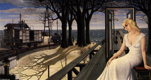 Paul Delvaux - Shadows