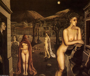 Paul Delvaux - The sleepy town