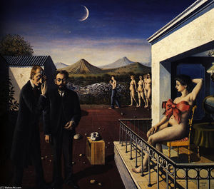 Paul Delvaux - Phases of the Moon
