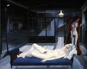 Paul Delvaux - The Blue Sofa