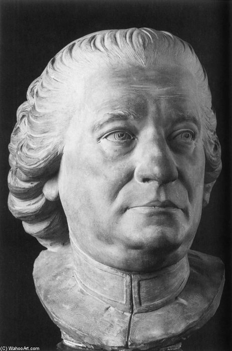 Bust Of Abbe Frugoni by Jean Baptiste Boudard (1710-1768, France) | WahooArt.com