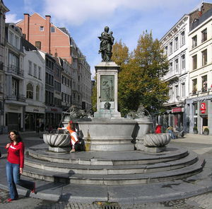 Jean De Liège - Liege , Vinave D-ile, Fountain With The Virgin By Jean Del Cour