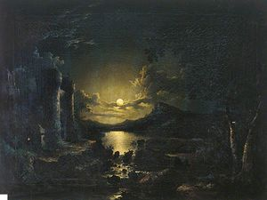 Abraham Pether - Moonlight Scene -