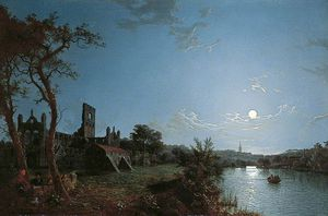 Abraham Pether - Morning, With A View Of Kirkstall Abbey, Leeds
