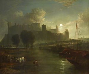 Abraham Pether - View Of Windsor Castle By Moonlight