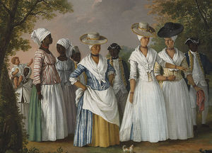Agostino Brunias - Free Women Of Color With Their Children And Servants In A Landscape -