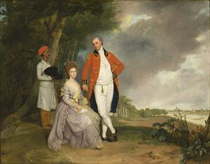 Arthur William Devis - The Hon. William Monson And His Wife, Ann Debonnaire