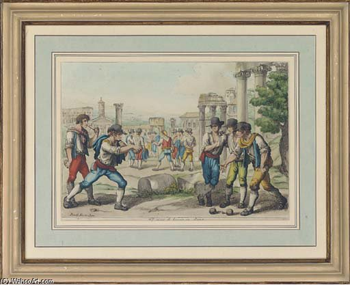 A Collection Of Picturesque Costumes Of Rome by Bartolomeo Pinelli (1781-1835, Italy)