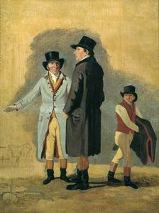 Benjamin Marshall - Sir Charles Bunbury With Cox, His Trainer, And A Stable-lad - A Study For -surprise And Eleanor-