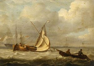 Charles Martin Powell - Fishing Boats In A Breeze