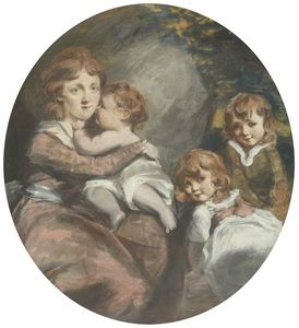 Daniel Gardner - Mother With Three Children