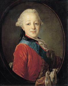 Fyodor Stepanovich Rokotov - Portrait Of Emperor Paul I As A Child
