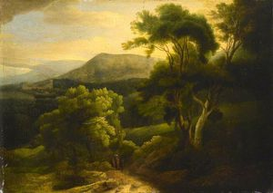 Francis Towne - At Tivoli, Mountain Landscape In The Alban Hills, Italy