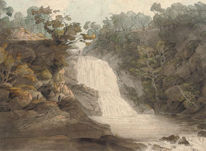 Francis Towne - The Falls Of The Mothvaye, North Wales
