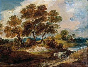 Gainsborouth Dupont - Landscape With A Cow And A Sheep