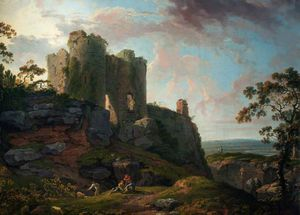 George Barret The Elder - Beeston Castle, Cheshire