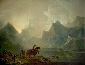 George Barret The Elder - Llanberis Lake And Dolbadarn Castle