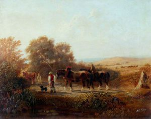 George Barret The Younger - Returning From Work