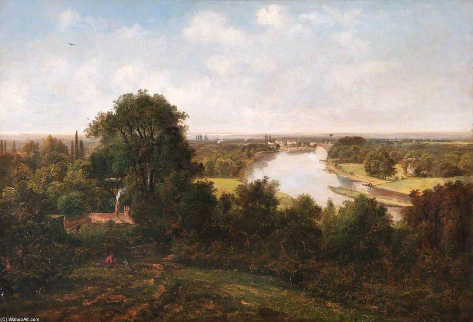 View From Richmond Hill, Surrey by George Barret The Younger (1732-1784, United Kingdom) | Museum Quality Reproductions | WahooArt.com