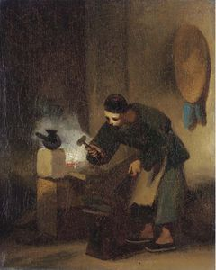 George Chinnery - A Chinese Blacksmith