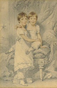 George Chinnery - Charlotte And Henrietta Edmonstone