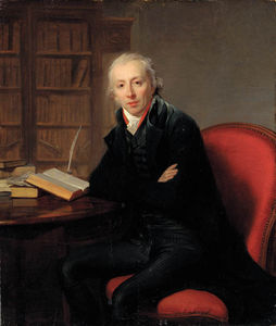 Henri Pierre Danloux - Portrait Of A Gentleman, Said To Be The Poet Roger Delile, Small Three-quarter-length, In A Black Jacket, Seated At A Desk In A Study
