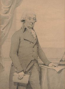 Henry Edridge - Sir Archibald Edmonstone, 1st Baronet Of Duntreath, Three-quarter-length, Standing By A Writing Table