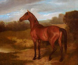 Jacques Laurent Agasse - Colt Of Mare And Arab Horse -