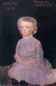 Karoly Ferenczy - Noemi As A Child