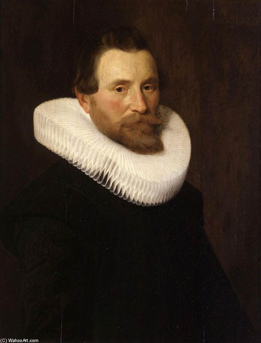 Order Museum Quality Copies | Portrait Of A Gentleman by Nicolaes Eliasz Pickenoy (1588-1650, Netherlands) | WahooArt.com